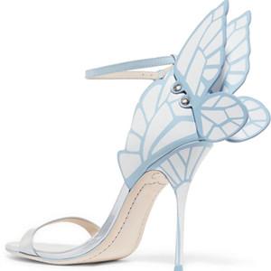 Heißer Verkauf-Sophia Webster Hochzeit Sandalen Frauen Patchwork Gladiator High Heels Schnalle Stilettos Party Kleid Sandalen Zapatos Mujer
