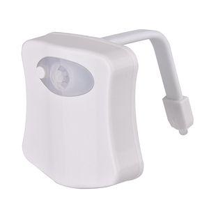 Magic Sensor Motion Activated LED Night Light Toilet Seat Lighting Lamp