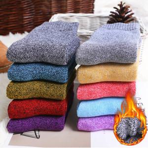 Plus récents femmes d'hiver chaussettes en laine lourds thermique chaud épais coton Boot chaussettes de Noël Slipper Bas pour les filles Party cadeau 10 Styles M754F