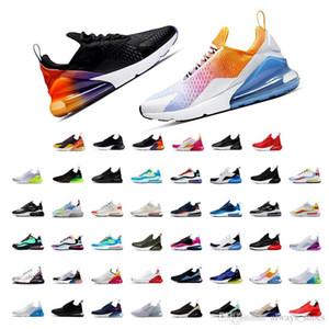 NIKE Air max 270 27 Parra Hot perfurador Photo Blue Mens Women Running Shoes Triplo Universidade Vermelho Branco Olive Volt Habanero 27C Flair 27s sapatilhas 36-45 XL6