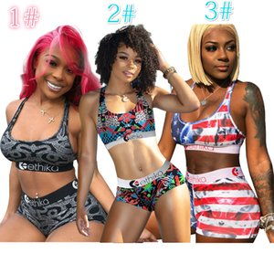 Impression numérique HD Sexy Women Set Femmes Ethika Maillot de bain 2 pièces bikini veste soutien-gorge et Short de bain Costume de luxe Beachwear 156