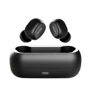 QCY T1C qs1 Мини-наушники Bluetooth с микрофоном Беспроводные Спортивные наушники с шумоподавлением гарнитуры и зарядки коробки