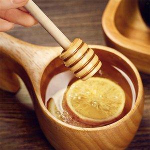 ücretsiz kargo ile Honey kaşığı bal karıştırıcı bal küpü sopa ahşap karıştırıcı 8 cm düğün çubuğu