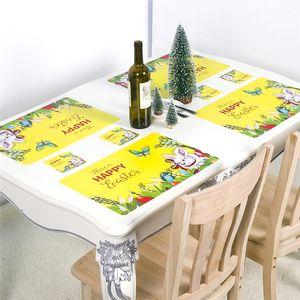 Sottobicchieri cm Pranzo Pasqua Pranzo Tabella tavolino JK2002 Placemats 43x28 Egg Vintage floreale tappetino tavolino decorazione antiscivolo EPBLG