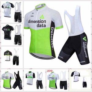 squadra DIMENSION DATA Estate manica corta Ciclismo Maglia Salopette Imposta Mountain bike Abbigliamento traspirante all'aperto sportwear A6164