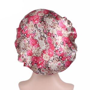 New Muslim Women larga faixa de cetim de seda Headwear Envoltório principal acessórios para o cabelo da perda