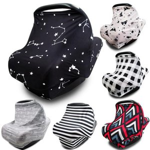 INS Nursing Covers Scarf Canopys Breastfeeding Cover Multifunction Stretchy Car Seat Cover Baby Carseat Canopy Breast Feeding Scarf DW5155
