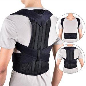 Frauen Männer Körperhaltung Korrektor Rückseite Stützgürtel Korsett Schulter-Verband-Rückseiten-Gurt