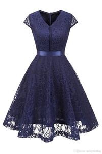 Vintage V шея без рукавов пояса цветочных кружев Свадеб Tank платье новых женщин бордовой невеста линия платье Robe Vestidos FS3893