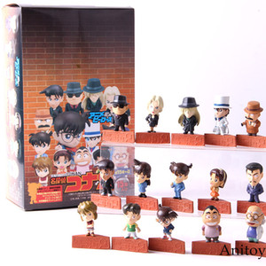 형사 코난 쿠도 Shinichi Conan에도가와 하이 바라 Ai Mouri 란 카이토 Kiddo PVC 액션 피규어 소장 모델 장난감 15pcs / set
