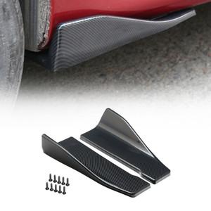 Areyourshop 자동차 2 개 35cm 스커트 스포일러 리어 립 확장 로커 스플리터 작은 날개 날개 스커트 스포일러 후면 자동차 액세서리 부품