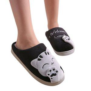 Men Winter Home Cartoon Slipper Soft Winter Warm House Slippers Indoor Bedroom Couples Anti-slip Winter Floor Shoes #25