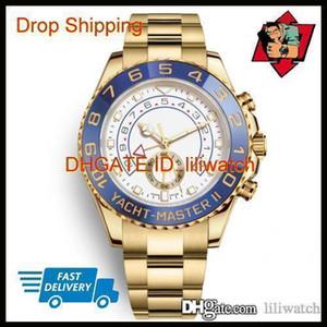 Aço Relógio de ouro Homens IATE Movimento automático Multifunction MESTRE 44 milímetros Mecânica Mens Stainless Watch Sapphire vidro de pulso Cor 3