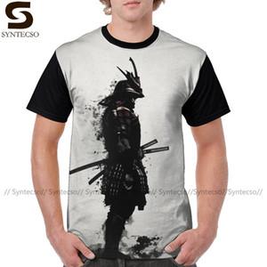 Guerrero Samurai camiseta blindado camiseta de poliéster camiseta divertida Moda Hombres camiseta XXX Gráfico Gráfico