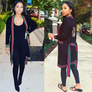 Frauen Langarm-Tiger Kopf Sequined Cardigan Partei-Damen Cardigans Oberbekleidung Herbst sexy Frauen-Streifen-Stitching Jacke Cape Minikleid