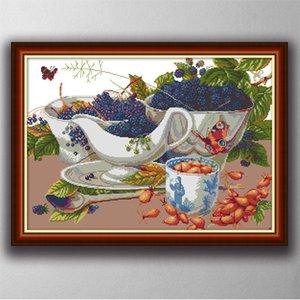 Wild fruit home decor paintings ,Handmade Cross Stitch Embroidery Needlework sets counted print on canvas DMC 14CT  11CT