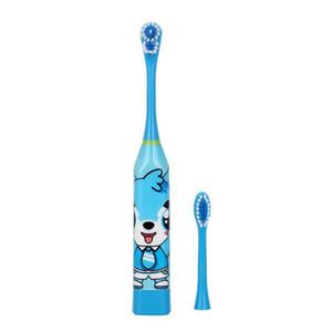 Crianças escova de dentes elétrica Cartoon Padrão Double-sided dente escova elétrica escova dentes para crianças com 2pcs Cabeça de Reposição RRA2279