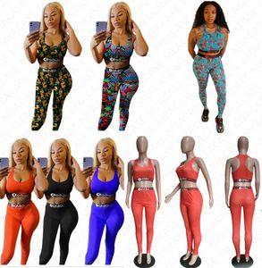 Women's swimwear letter print push up bra tank top + leggings pants designer bikini summer 2 piece outfits beach swimming tracksuit D7305