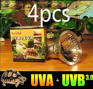 4 팩 파충류 Vivarium 태양 열 텅스텐 할로겐 UVB+UVA 굽기 전구는 넓 스펙트럼 빛 110v220v 를 방출합니다