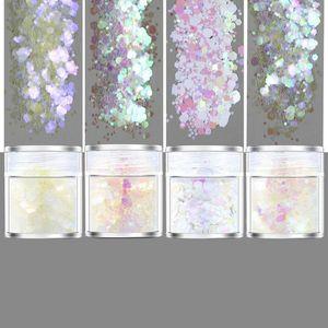 4 Rainbow Color Blanc Glitters Sequains résine pigment obturations Kit Maquillage Bijoux obturations Nail Art Décor Making Bijoux