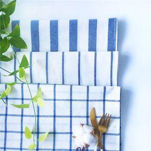 Japon çay havlu ekose şerit saf pamuklu bez sanat peçete serinletici 5adet Dış ticaret, ısı yalıtımı yastığı gurme fotoğrafçılık backgrou