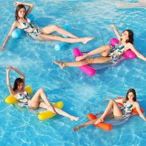 New Fashion inflável flutuante água Hammock Salão cadeira cama Verão Kickboards Piscina Float Piscina inflável Bed Praia Jogando Ferramenta