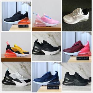nike air max 270 airmax 2019 El más nuevo 27C air Cushion Air Knit Breathable Children Running shoes boy girl young kid sport Sneaker size 28-35