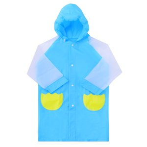 Backpack Children Raincoat Hooded Reflective Impermeable Hiking Bicycle Raincoat Waterproof Lightweight Student Raincoat MM60YY