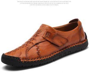 Holgazanes de diseñadores famosos se deslizan en la conducción de zapatos con cuero genuino de los hombres streetwear de la moda del calzado informal de primera calidad
