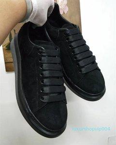 Últimas Designer Shoes Plataforma Sneakers Luxo Mulheres Trainers homens de couro sapatos de camurça Platform Oversized Sole 6 cores SZ 4-12 Com Box c20