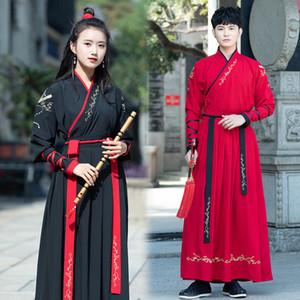 Hommes Hanfu Costume Femme scène Tenues Han Element Performance Wear mâle Style chinois Ensemble Vêtement traditionnel national