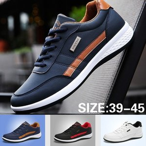 Men Business Casual Shoes PU Leather Running Shoes Fashion Lace Up Male Outdoor Walking Jogging Sports Shoes Casual Sneakers