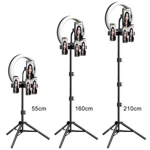 M26 10 polegadas LED Selfie Selfie Light com Tripé Stand para Live Stream Youtube Tiktok Vlog Dimmable LED Camera Beauty Ringlight
