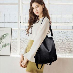 Women PU Leather Backpack Outdoor Backpack Female Bag Anti Theft High Quality Softback Urban Fashion Backpacks