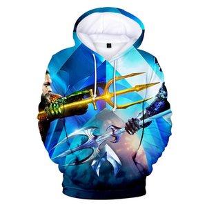 mens tasarımcı hoodies Aquaman'i Moda Hoodie Kazak Erkek / Bayan Sonbahar Ve Kış Kapüşonlular 3D Casual Harajuku Sokak Giyim Baskı Sweat