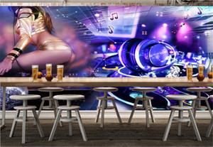 Vente en gros Rock Sexy Girl 3d Bar KTV décoratif Fond d'écran pratique et beau promotion Fond d'écran 3D