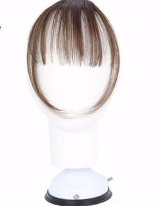 2019 Longue Blunt Bangs Mini Extension de Cheveux Clip-in Synthétique Faux Morceau Frange De manière Naturellement Clip pour Femme