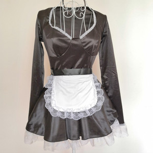 Sexy French Maid Cosplay Uniform Hot Fancy Maid Women Role Play Costume Dress Clubwear incantevole
