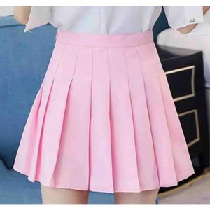 hot Korean Style High Waist Skirt Plus Size Harajuku Women Mini Skirts Ladies Sexy White Skirt Women Summer Skirts Solid Color XS-2XL DHL