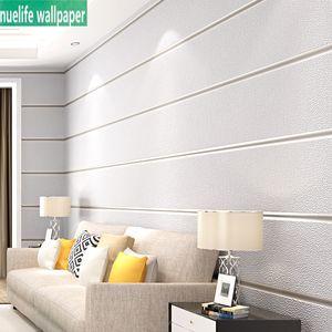 아이 방에 대한 간단한 스타일의 부직포 블루 대리석 벽지 침실 거실 TV 배경 벽 3D 가로 스트라이프 벽지