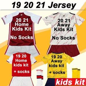 19 20 21 Kids Kit Hauptfußballjerseys Auswärts Gelb 3. kurze Ärmel Mädchen-Fußball-Hemden Mode Kinder Uniformen Socken Niedriger Preis Verkauf