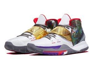 جديد سخن Kyries 6 هيوستن الاطفال مبيعات حذاء كرة السلة مع صندوق حار 6 من الرجال والنساء حذاء تخزين الشحن المجاني US4-US12