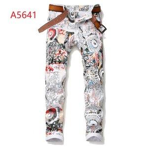 Ücretsiz Kargo Erkek Robin Kaya Canlanma Kot Kristal Çiviler Denim Pantolon Tasarımcı Pantolon erkek boyutu 29-38