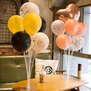 Vente chaude En Plastique Ballon Accessoire Base Table Support Titulaire Tasse Bâton Stand Décoration De Partie Stand De Mariage D'anniversaire Décor