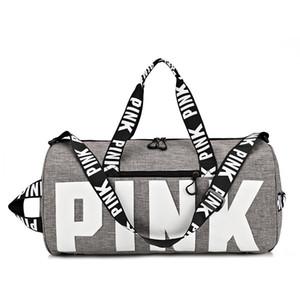 2019 yeni seyahat çantası naylon su geçirmez PEMBE seyahat çantası moda spor spor yoga seyahat depolama spor çantası
