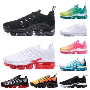 nike air vapormax tn plus BETRUE Triple Negro Blanco Uva Hyper Blue Violet Volt Running Shoes 2018 Hombres mujeres Run Sports shoes Sneaker talla 36-45