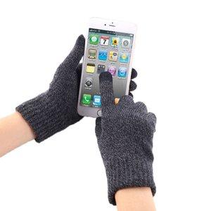 SUOGRY Autumn Winter Men Point Gloves High Quality Thicken Warm Wool Cashmere Solid Gloves Men Business Mitten