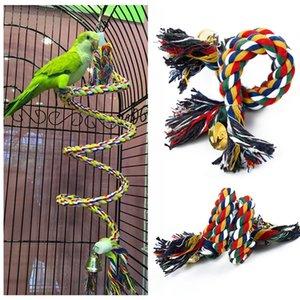 Parrot corda pendurada trançado Budgie Chew Corda Perch Bird Cage Cockatiel Toy Pet Suporte Acessórios Formação Conure balanço Suprimentos