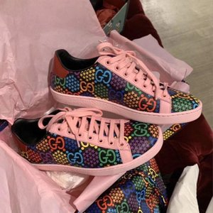 Psychedelic Lace Up Ace sneaker casual designer shoes boutique women and men big size 35 to 46 tradingbear