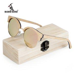 Bobo Bird Gafas de sol de madera para mujer Gafas de sol polarizadas Uv400 en caja de madera Y19052004
